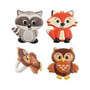 - Woodland Animal Friends Cupcake Rings by Bakery Supplies (48-Pack)