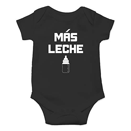 (CBTwear Mas Leche - Funny Spanish More Milk - I'm A Milk A Holic - Cute Infant One-Piece Baby Bodysuit (6 Months,)