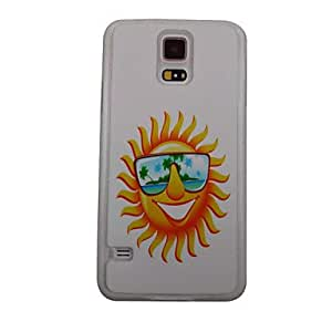 LIMME The Beautiful Sun Pattern PC Back Case for Samsung S5/I9600