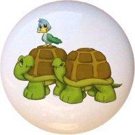 Ceramic Knob - Turtles - Noah's Ark - Noahs Ark Knob