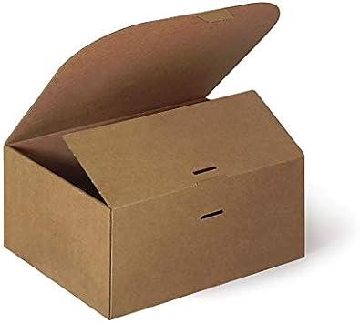 Caja de Cartón 25 x 20 x 12 cm CTM11 Pack 10 uds: Amazon.es: Oficina y papelería