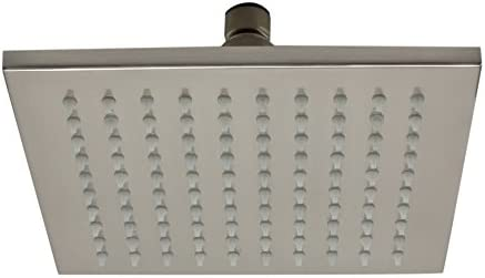 ALFI brand LED8S-BN Brushed Nickel 8 Square Multi Color LED Rain Shower Head