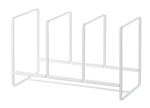 YAMAZAKI home Storage Rack Wide for Kitchen Cabinets Tower Dish Organizer, White, Large