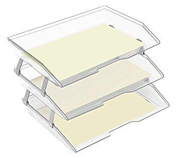Acrimet Facility Briefablage dreifach Querformat Design A4 format Transparent Kristall