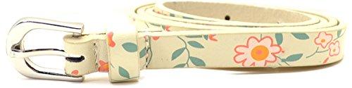 "American Rag Cie Women's Taupe Flowers Skinny Belt 1/2"" Small from American Rag"