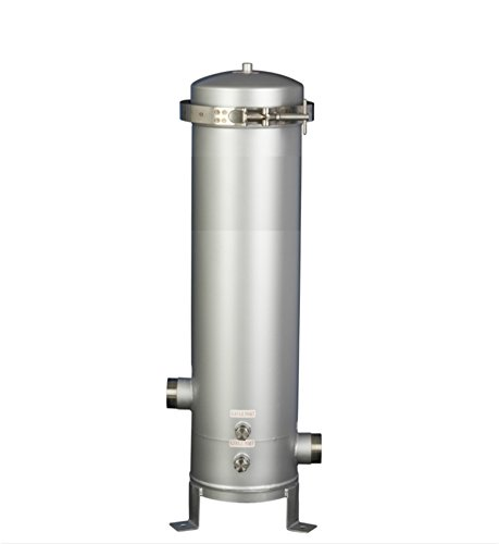 Stainless Steel Water Fluid Filter Housing,316L SS,3 Cartridges x 30-inch Length,V-band Clamp Top Closure Housing,2-inch MNPT (V-band Housing)
