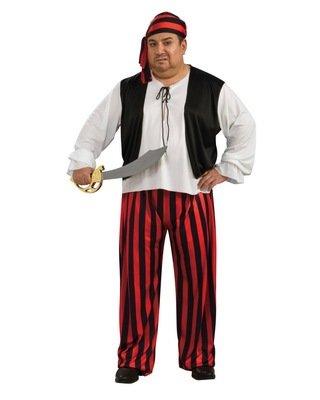 Mens Plus Size Pirate Costumes (Plus Size Pirate Man Costume - Mens Full (46-52))