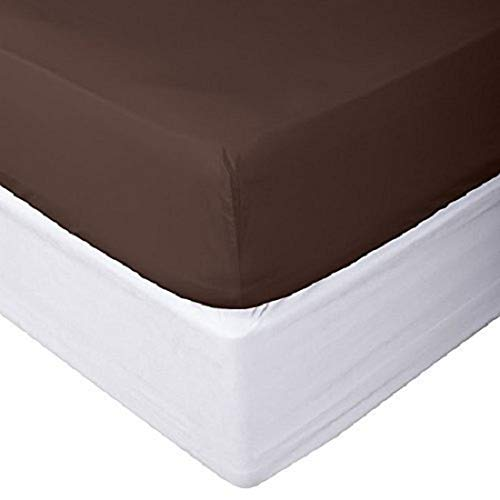 Acrilan Bedding Premium Quality 1 Piece Fitted Sheet (Bottom Sheet Only) Extra Long Fit Upto 15