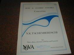 N.K. Tschemberdschi. Concertino Chamber for Flute, Oboe, Clarinet in B flat & Bassoon. Edited by Himmie Voxman. NOVA. N.M. 223. Score and Set of - Nova Nm