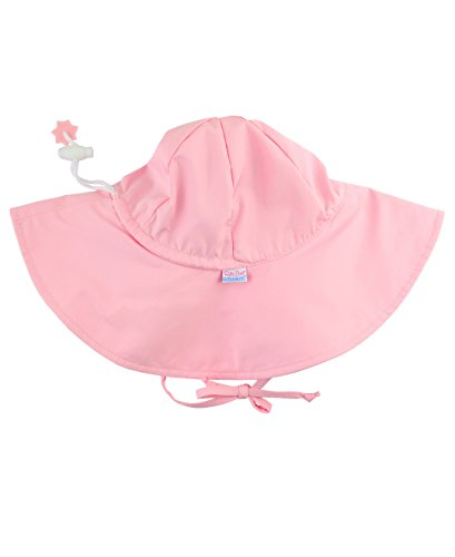 RuffleButts Baby/Toddler Girls Pink Adjustable Sun Hat w/UPF 50+ Protection - 12-24m