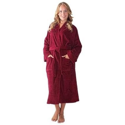 28e84cedaf Amazon.com  Women s Long Kimono Style Turkish Cotton Terry Cloth ...