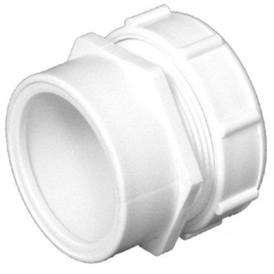 (Charlotte Pipe & Foundry PVC 00103P 0800HA Male Trap Adapter, PVC/DWV, S x SJ, White, 1.5 x 1.5-In. - Quantity 50)