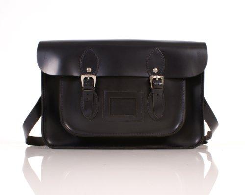 Oxbridge Satchel's - Bolso estilo cartera de cuero para mujer 14 DEEP PURPLE MAGNET