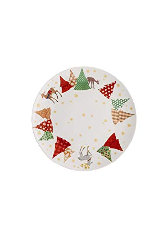Hutschenreuther Collector's Series Christmas Songs-O Christmas Tree Flat Plates 22cm, Porcelain, 23x 22x 3cm