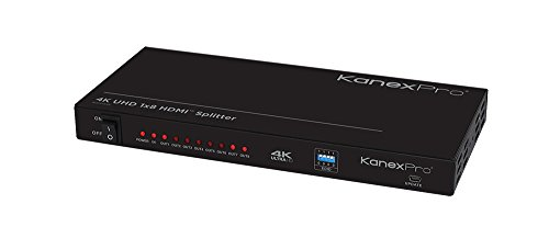 Kanex Pro HDSP184K HDMI 8-Port Distribution Amplifier (Multi Port 8 Channel)