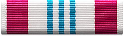Slide-on Ribbon with Mounting bar: DEFENSE MERITORIOUS SERVICE - Meritorious Medal Ribbon Service