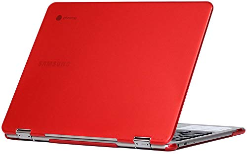 mCover Hard Shell Case for 2018 12.2 Samsung ChromeBook Plus XE521QAB Series (NOT Compatible with Older XE513C24 / XE510C24 / XE303C12 / XE500C12 / XE503C12 Models) Laptop - RED