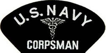 (OFFICIALLY LICENSED Embroidered Military Navy Corpsman Large Patch 4x5.5 Inch)