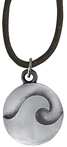 New Cruz Accessories Wave Disc Pendant on Leather Cord Necklace