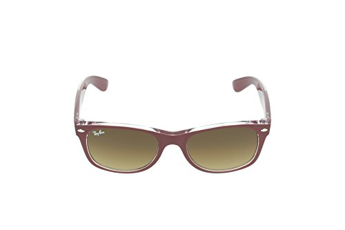 Ray-Ban-RB2132-Wayfarer-Sunglasses-605485-Top-Matte-Bordo-on-TransparentBrown-Gradient52-mm