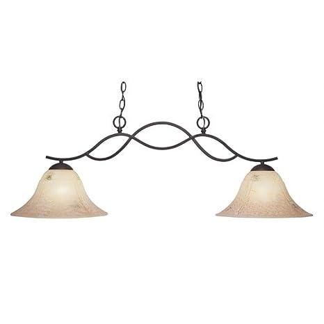 Amazon.com: toltec lighting Revo oscuro granito dos luces ...