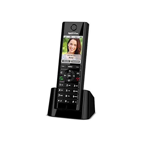 chollos oferta descuentos barato AVM FRITZ Fon C5 Teléfono inalámbrico DECT pantalla a color telefonía HD enviar y recibir mail noticias RSS podcasts radio por Internet compatible con FRITZ Box con base DECT menú en Alemán