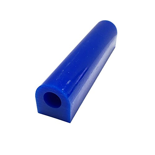 NIUPIKA Carving Wax Ring Tube for Making Rings Mold Hard Wax Blank Large Flat Side Tube Blue Color - Cast Wax