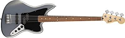 Fender Standard Jaguar Electric Bass Guitar - Pau Ferro Fingerboard, Ghost Silver from Fender Musical Instruments Corp.