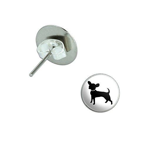 Chihuahua Novelty Silver Plated Earrings