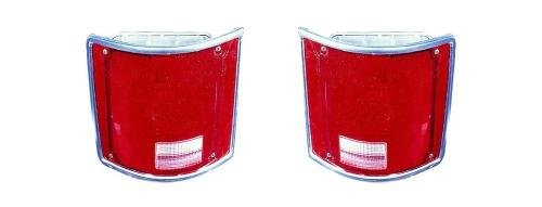 Go-Parts PAIR/SET OE Replacement for 1987-1991 GMC V2500 Suburban Rear Tail Lights Lamps Assemblies/Lens / Cover - Left & Right (Driver & Passenger) Side for GMC V2500 ()