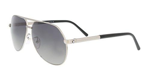 Montblanc Aviator Sunglasses MB504T 17C Matte Palladium/Black - Sunglasses Blanc Mens Mont