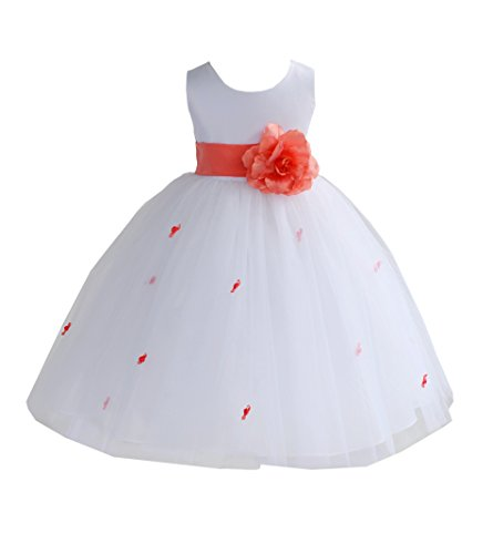 Bud Rose Flower Girl - Elegant Stunning wedding bridal tulle Rosebud Flower girl dress wedding 815S 6