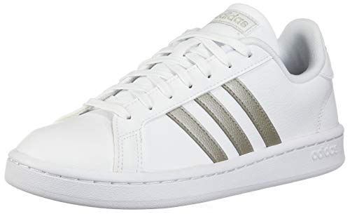 adidas Women's Grand Court, Platino Metallic/White, 8 M ()