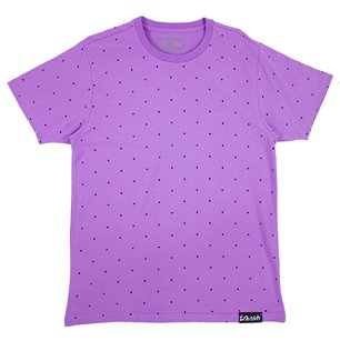 Pink Dolphin Cross Tee in Lavender XXL