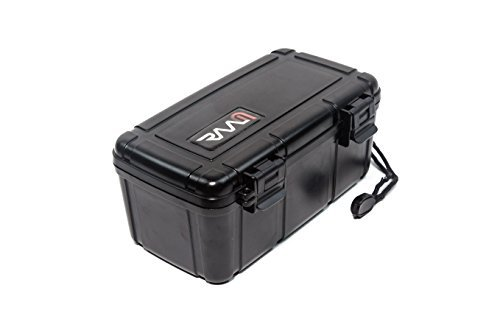 RAAM Cigar Travel Humidor - Double Clamp | Crush-Proof | Air Tight | Portable Humidifier for Cigars | Black | Maximum 15 - Humidor Plastic Cigar 10 Travel