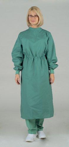 Surgeon Scrub - Medline 606MJSXL Tunnel Belt Surgeons Gown, X-Large, Jade Green