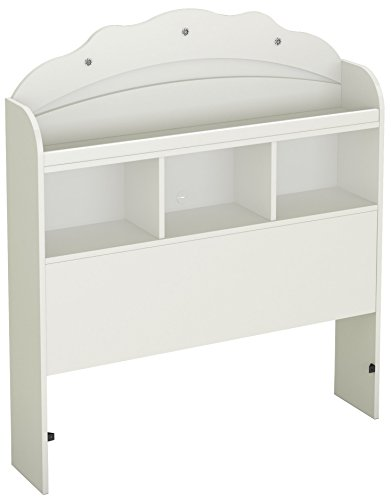 (South Shore Tiara Collection Twin Bookcase Headboard - Pure White - Bedroom Furniture)