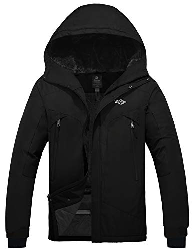 Wantdo Men's Waterproof Snowboard Jacket Windproof Mountain Winter Ski Snow Coat