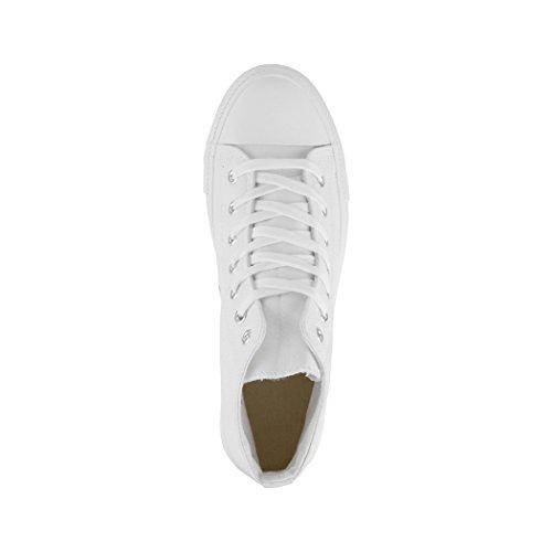 Tissu Sneakers Elara White Chaussures Top Standard Loisirs High Unisexe De Sport 11aqC