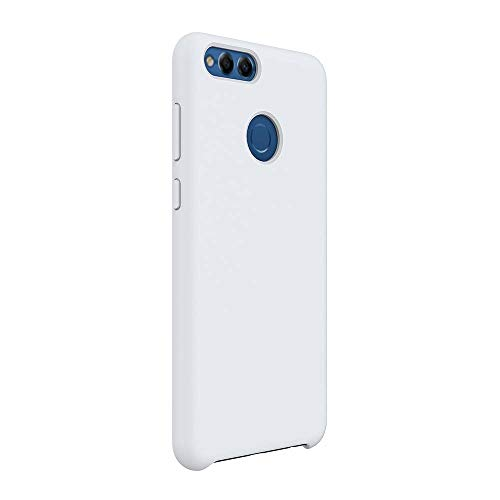 Matop Liquid Silicone Case Compatible for Huawei Mate SE,[Microfiber Cloth Cushion Lining][Free Tempered Film] Slim Soft Full Body Shockproof Protection Shell for Huawei Mate SE,White
