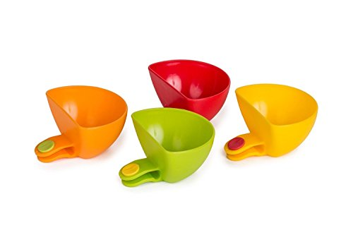 Dip Clips COJOY Plate Grab Clip-on Dip Holders Tomato Sauce Salt Vinegar Sugar Flavor Spices Plate Bowl Container Dish(set of 4)