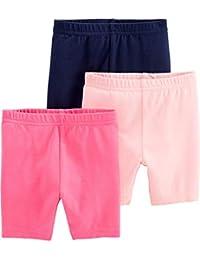 Baby and Toddler Girls' 3-Pack Bike Shorts