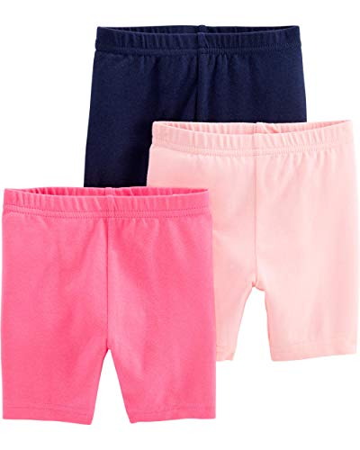 Simple Joys by Carter's Girls' 3-Pack Bike Shorts, Pink, Navy, 6-9 Months
