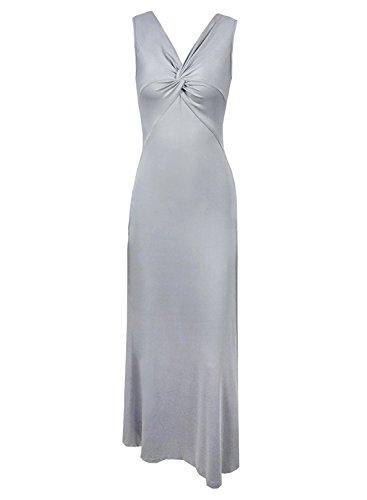 Futurino - Vestido - Sin mangas - para mujer gris claro