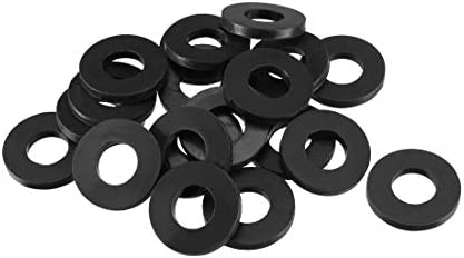 Pack of 400 uxcell Nylon Flat Washers M3 6mm OD 4mm ID 1mm Thickness for Faucet Pipe Water Hose