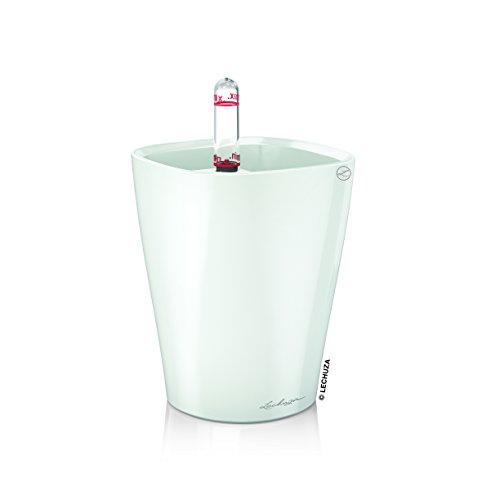 Lechuza 14950 Mini Deltini Self-Watering Garden Planter, White High Gloss