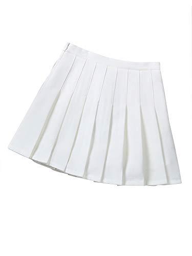 Little Big Girls' Kid Pleated Mini Short Skort School Dresses Tennis Scooters Skirts White Tag 110 (4-5 Years)