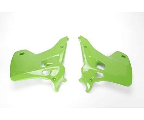(Ufo Plastic Radiator Cover Green for Kawasaki KX 125 250 92-93)