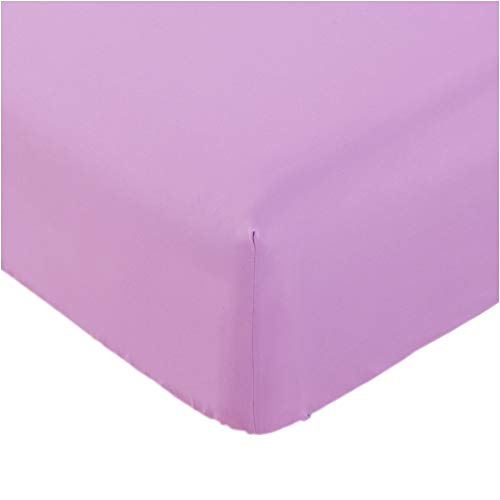 Mellanni Fitted Sheet King Pink Brushed Microfiber 1800