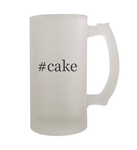 #cake - 16oz Sturdy Hashtag Glass Frosted Beer Stein -